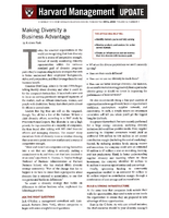 Making Diversity a Business AdvantageHarvard Management Update